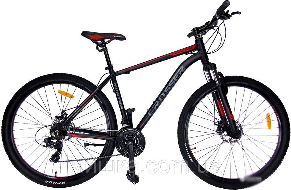 """Велосипед Crosser Hunter-1*19 29"""" горный алюминиевый черный"""