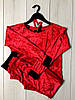 Красный велюровый костюм кофта и штаны: женская домашняя одежда, фото 2