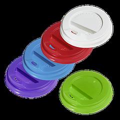 Крышка КР74 поилка 50шт синяя, красная (на стакан гофру 175мл)