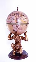 """Глобус бар напольный """"Atlas"""" – золотой Зодиак 42016N-GE"""