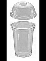 Крышки для ПЕТ стакана с отверстием (на 350,400,500мл) 100шт d=9,7см прозрачные FT 68-97