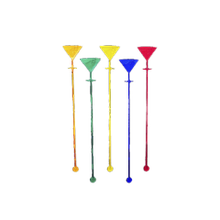 Мешалка для коктейлей Мартини цветная 100шт 18см 32075