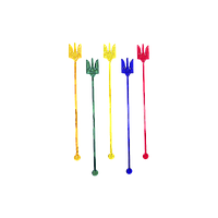 """Мешалка """"Тризуб"""" цветная 100шт 18см"""