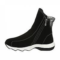 Зимние женские высокие кроссовки из замши, ботинки