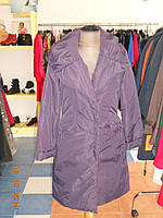 Оригинальное пальто  фиолетовое на синтепоне с затяжкой на спинке Solar, фото 1