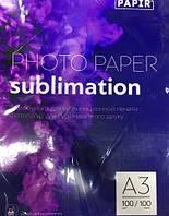 Фотобумага для сублимации А3, 100г, PAPIR, 100 листов