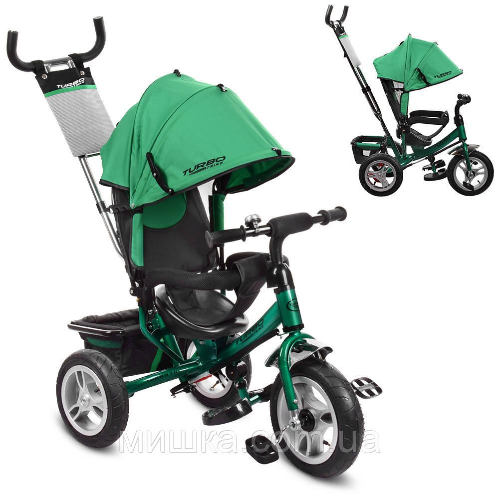 Детский велосипед M 3113A-N4 трехколесный, колеса надувные, индиго