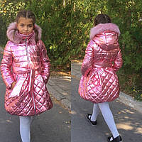 Красивое детское пальто для девочки на молнии