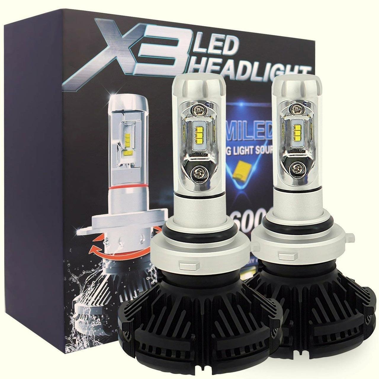 Лампа светодиодная X3  HB4/9006 6000 Lum, цвет свечения 3000/6500/8000К, 2 шт/компл.