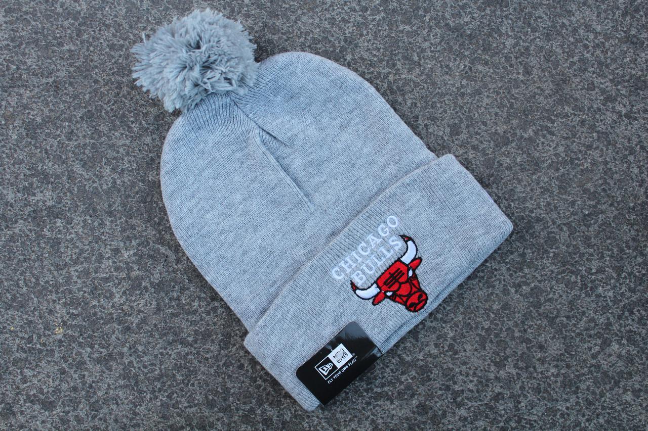 Шапка зимняя Chicago Bulls / SPK-414 (Реплика)