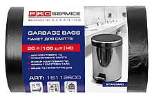 Пакети для сміття 20л 100шт чорні PRO-16112600 45*50см 7мк