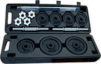 Штанга и гантели наборные в кейсе (30 кг) IronMaster
