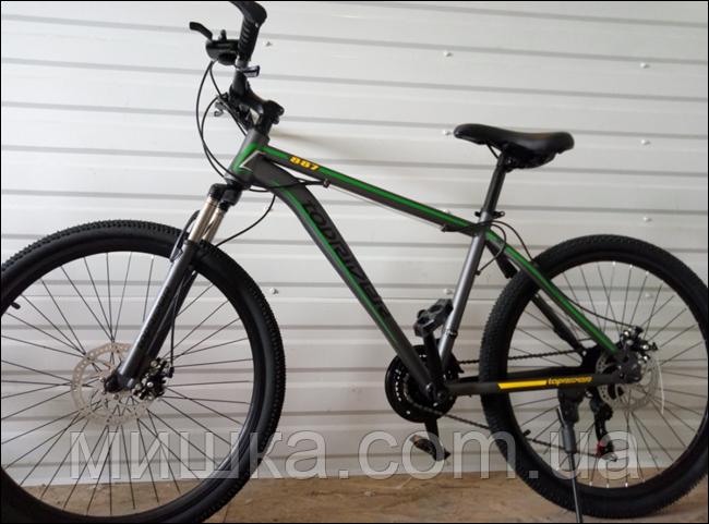 """Велосипед спортивный TopRider 887 26"""" зеленый"""