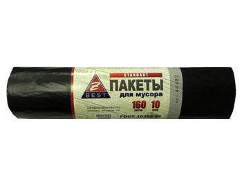 Пакеты для мусора Z-BEST черные 160л 10шт 20мк