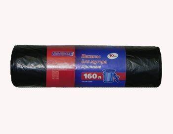 Пакеты для мусора З прочные-черные 160л 10шт 25мк