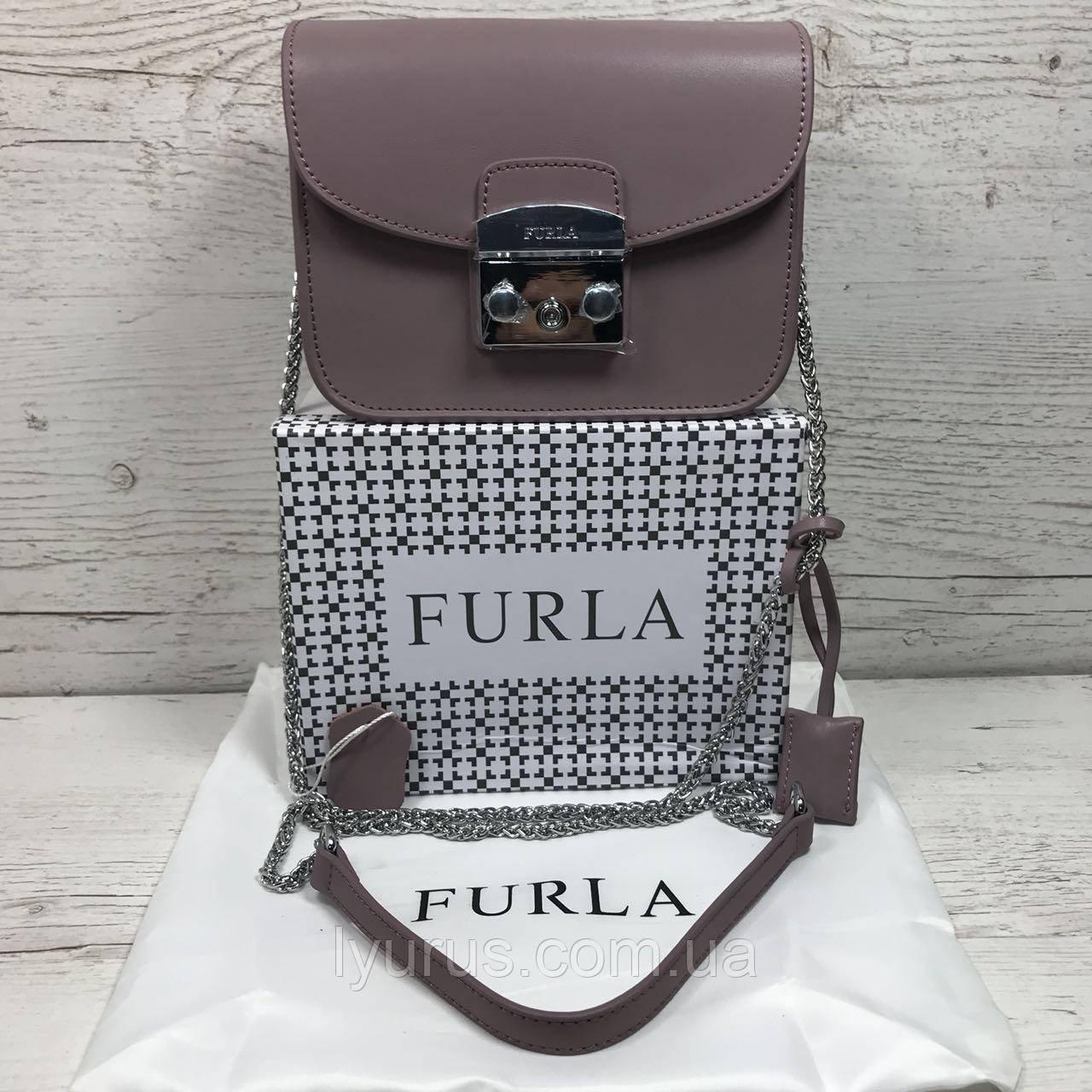 Кожаная сумка клатч Furla metropolis