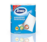 Полотенце бумажное ZEWA кухонное 2 слойное 2 рулона белые маккулатурка