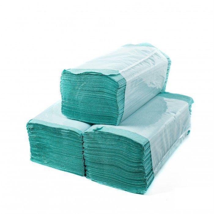 Рушник паперовий вкладиш V-складені 25*23 170шт зелені Каховынка