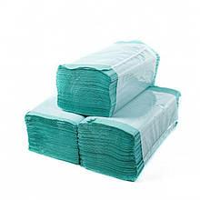 Полотенце бумажное вкладыш V-сложенные 25*23 170шт зеленые Каховынка
