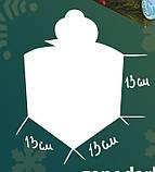 "Новогодняя Упаковка ""Бант Візерунки"" для сладких подарков 500-700 г, фото 6"