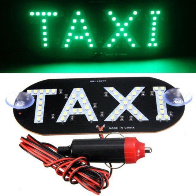 Автомобільне LED табло табличка Таксі TAXI 12В, зелене в прикурювач