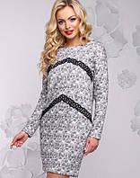 Женское платье из ангоры с принтом (2919 svt)