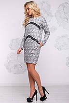 Женское платье из ангоры с принтом (2919 svt), фото 3