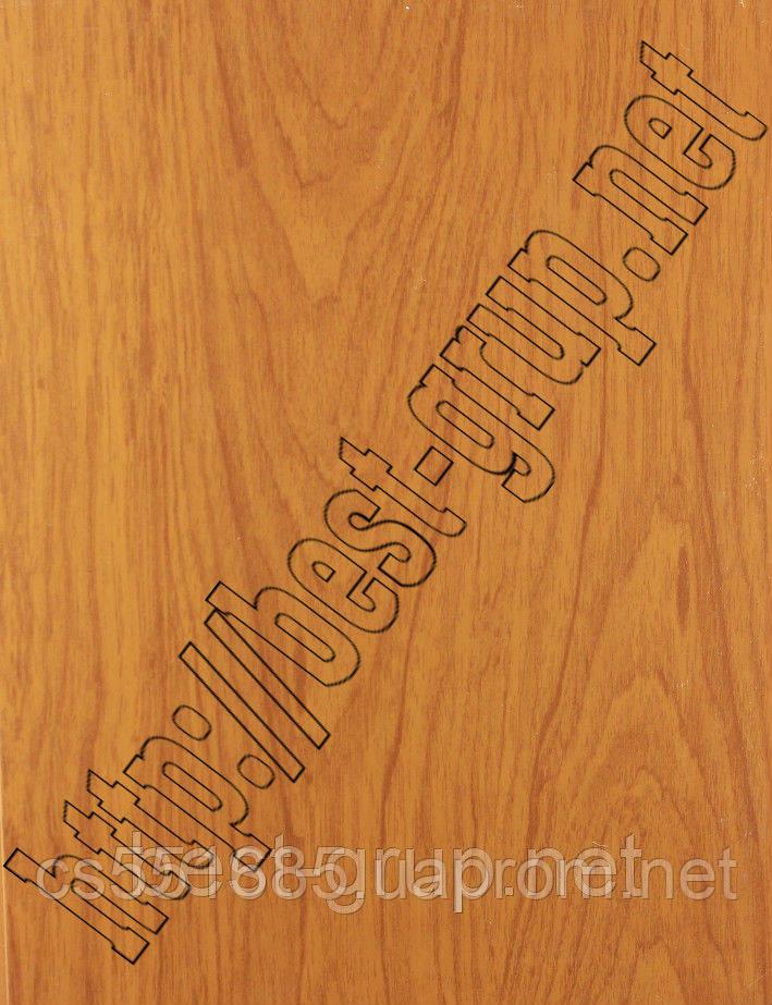 Дуб темно-коричневый матовый 250х6000х8мм. Пластиковые панели (ПВХ) с термопереводной печатью Brilliant