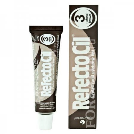 Краска для бровей и ресниц натурально-коричневая №3