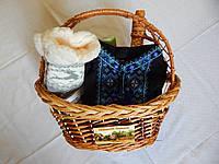 Подарочный набор в корзине плетеной