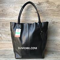 Итальянская кожаная сумка шоппер