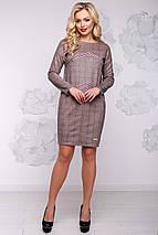 Женское платье в клетку из экозамши (2918 svt), фото 2