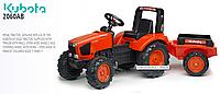 Детский трактор на педалях Falk 2060AB KUBOTA M135GX, фото 1