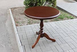 Круглый кофейный стол ОДИССЕЙ орех