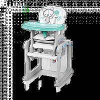 Стульчик для кормления Baby Design Candy - Польша - трансформируется в стол и стул Бирюзовый