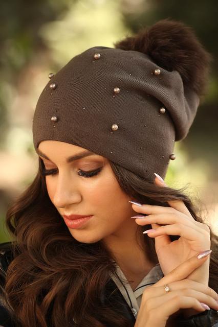 женская шапка зима 2019