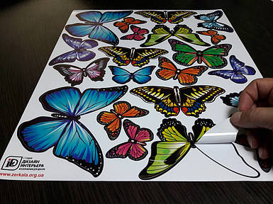Наклейки бабочки самоклеющиеся для украшения дома 42
