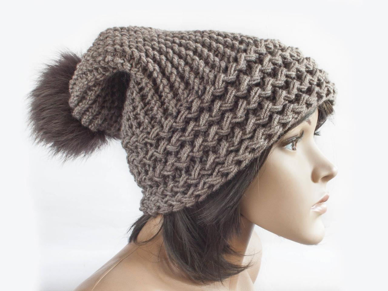 Шапка, женская вязаная шапка, HandMade шапка, модная стильная шапка, помпон шапка