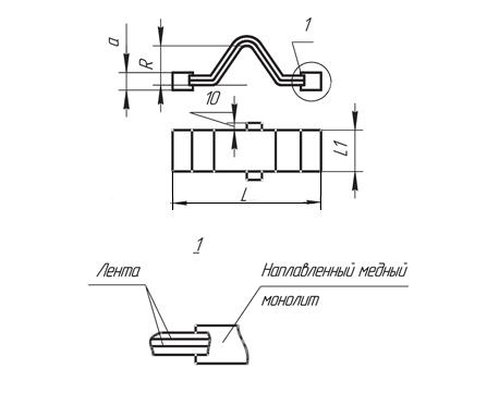 Компенсаторы шинные серии КШМ (сварное соединение)