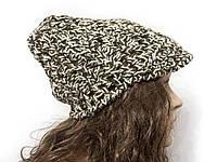 Шапка, женская вязаная шапка, объемная шапка, HandMade шапка, модная стильная шапка, шапка козырек, фото 1