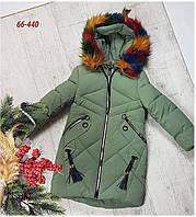 Зимняя куртка 66-440 на 100% холлофайбере, размеры от 134см до 158 см, фото 1