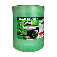 Антипрокольная жидкость для беcкамерок Slime, 19л/Герметик для велосипедных покрышек.