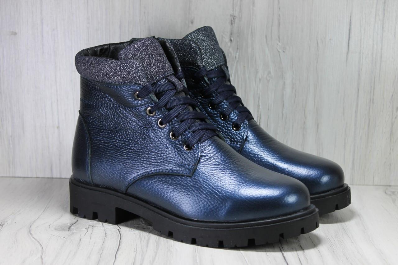 Подростковые модные зимние ботинки для девочек натуральная кожа Alexandro