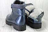 Подростковые модные зимние ботинки для девочек натуральная кожа Alexandro, фото 3