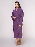 """Халат махровий  """"Фіолетовий"""",  розмір: L"""