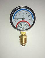 Термоманометр Ango 1/4 120С 1-6 бар, нижнее