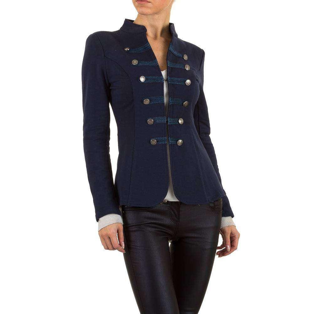Пиджак женский в стиле милитари  (Европа), Темно-синий