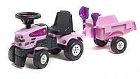 Трактор каталка с Прицепом Falk 1086C