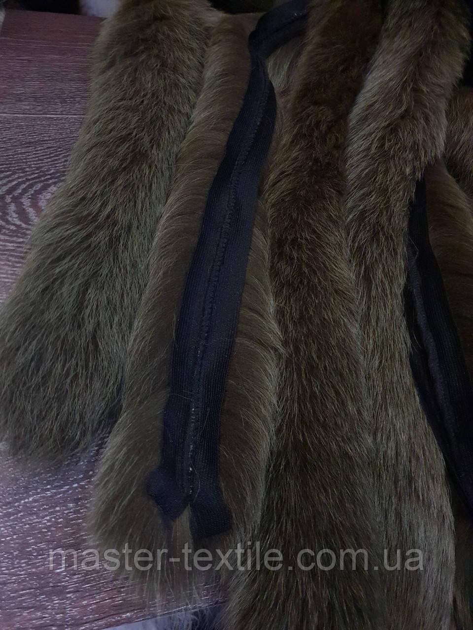 Опушка из натурального меха Песец 70 см