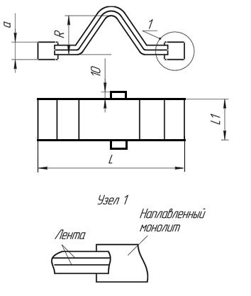 Компенсатор шинный серии КША (сварное соединение)